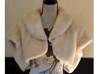 Next Faux Fur Wedding Bridal Bolero / Top / Jacket - Size on Label - Extra Large EUR 5