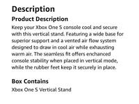 Brand new White Gioteck VC1s Vertical Stand for Xbox One S