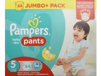 Pampers Baby Dry Pants size 5 /64 nappies