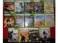 Xbox 360 slim 4gb black with games