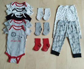 10 Piece Matching Lion Print Baby Clothes Bundle Set 18 Months