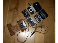 Nice Collection of Vintage Compact Film Cameras (pbms)
