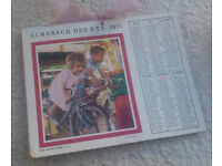 Retro-vintage 1971 French calendar (La Poste) - display as it is or part of a larger arts project?