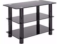 Black Glass 32 Inch Slimline TV Stand - (BRAND NEW)