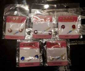 New earrings magnetic clip on 10 pairs