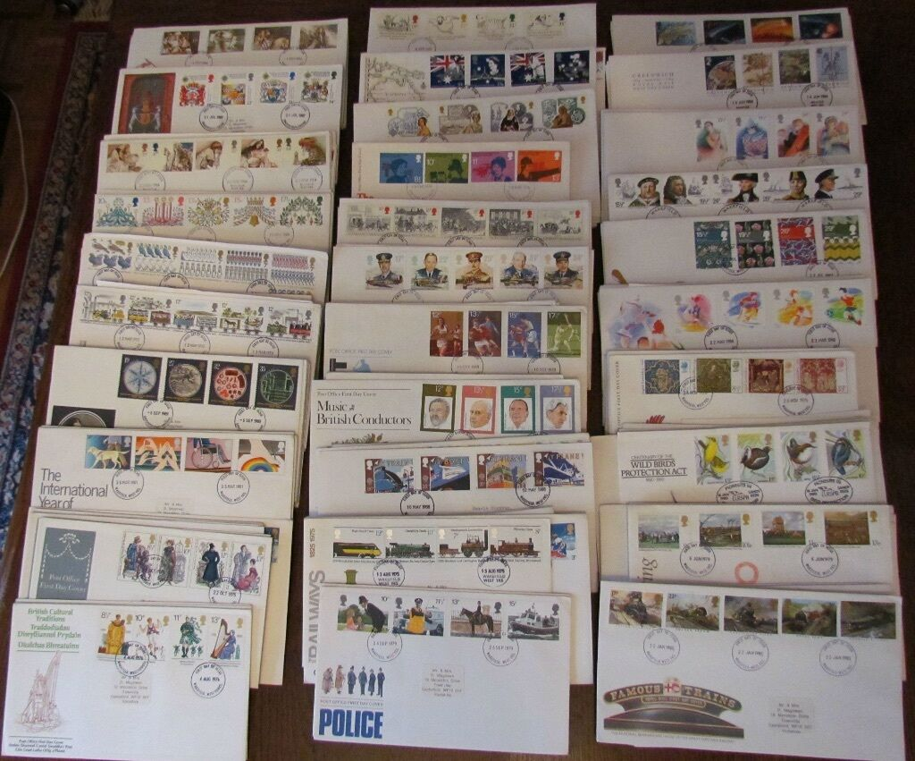Stamps: 118 First Day Covers all with original inserts