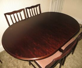 Stag Oval Extending Dining Table and 4 Chairs
