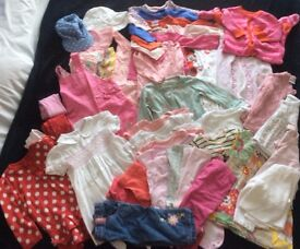 Baby girl's 6-9 months large clothes bundle in excellent condition (Next, Mothercare, TU) - 40 items