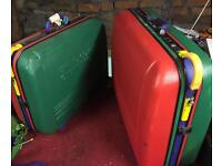 Retro 80's United Colours of Benetton suitcases
