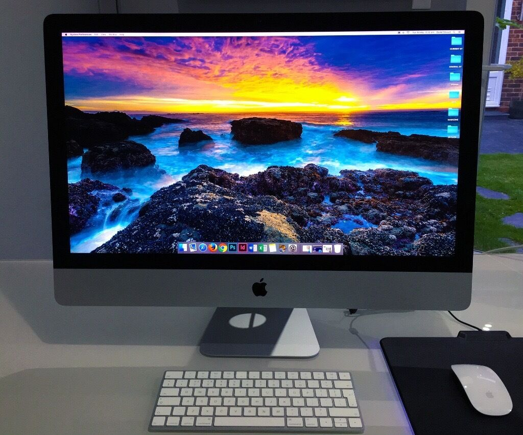 """Apple iMac 27"""" Retina 5K QC i5 3.2GHz 8GB 1TB HD AppleCare 12/18 Current Modelin East Grinstead, West SussexGumtree - Welcome to our sale for an Apple iMac 27"""", we have a small design / publishing business run from home, we purchased the iMac new and it comes with all original boxes, packaging and accessories, This iMac has been my personal day to day machine for a..."""