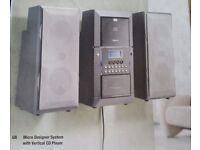 Black Stereo System