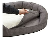 Karlie Ortho Bed Oval Lying Mattress Dog Bed for Small Dogs Grey New in Retail Packaging