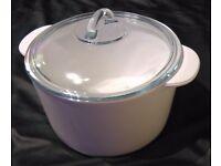 Pyrex Flame Vitro-ceramic round Casserole + glass lid 3L