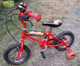 Kids Lightning McQueen Bike with Stabilisers **VGC**