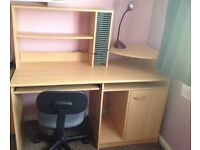 Office / computer desk with storage & chair