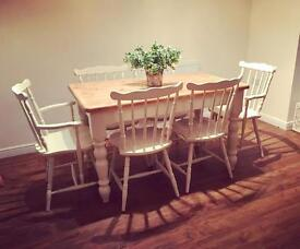 ShabbyChic dining table & chairs set