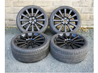 "20"" alloy wheels tyres 5x120 VW Volkswagen Transporter T5 T6 Vivaro Traffic"