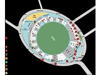 India v South Africa ICC Champions trophy Oval Sunday 11th June - four adjacent seats