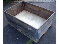 PALLET CRATE SYSTEM WOODEN - IDEAL RAISED PLANTER, LOG STORE, BULK STORAGE BOX (2 of 2)