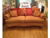 "Two gold/red ""Classic "" handmade sofas from Shapes of Edinburgh"