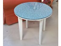 BARGAIN ROUND TABLE [ for SOFA; SIDE; HALL; Bedside; Child's Play Table ETC] WITH 6MM GLASS TOP