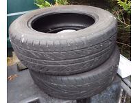2 Tyres for Sale 195/65 R15