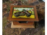 Harley davidson wooden box