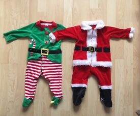 Santa & santas little helper outfits 6-9 months