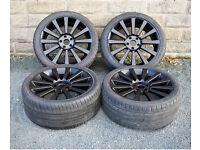 "20"" alloy wheels tyres 5x120 VW Volkswagen Transporter T5 T6 Vivaro Traffic"