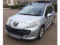 PEUGEOT 207SW DIESEL ESTATE FULL PANORAMIC ROOF