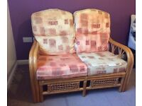 3 piece cane furniture sofa suite (2 singles and a double)