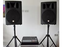 PA System - Passive Speakers with Behringer PMP4000 Desk + Stands and all cases - 600W+