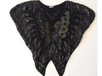 Gorgeous Vintage Butterly Sequin Top Black