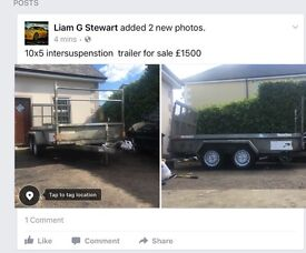 Plant trailer 10ft x5 ft only selling due to close off business