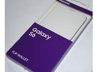 Genuine Samsung Galaxy S6 Flat White Flip Wallet Cover / Case - EF-WG920PWEGWW JOB-LOT JOBLOT