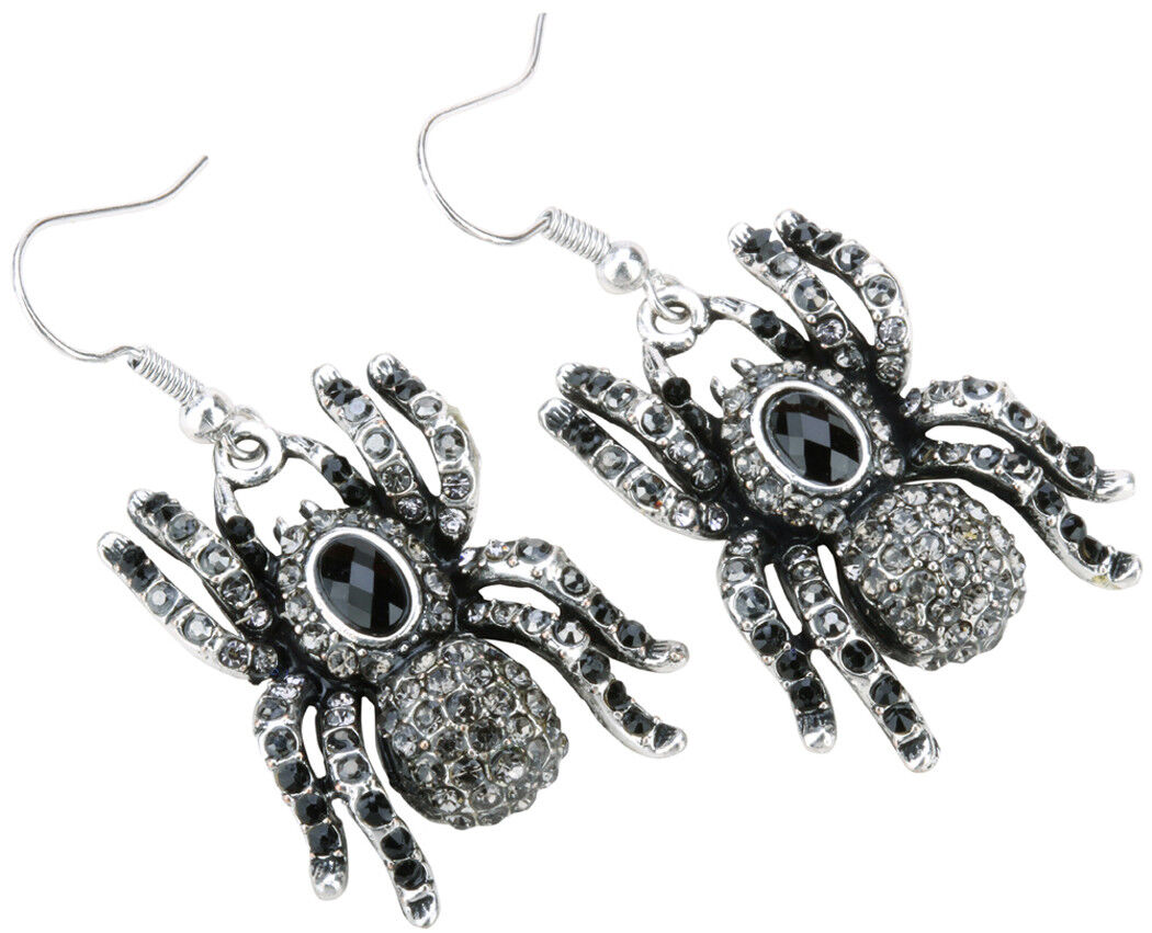halloween spider dangle drop earrings bling jewelry gifts fo