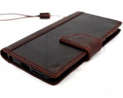 genuine real leather Case for Motorola Nexus 6 book wallet cover luxury premium