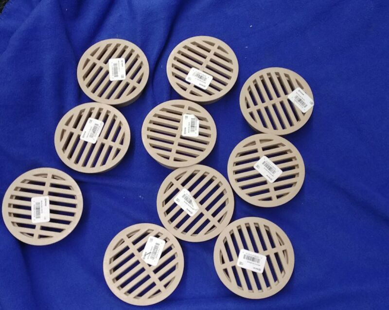 10 pack ADS 4 in. Sand Plastic Round Drain Grates