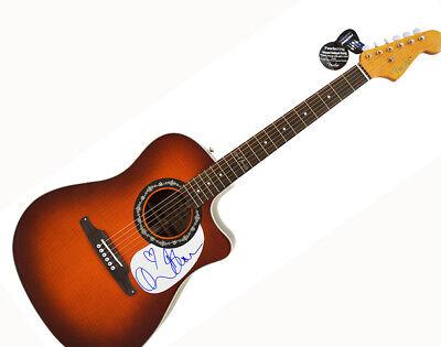 Orlando Bloom Autographed Signed Fender Acoustic Electric Guitar AFTAL