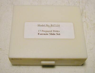 Prepared Microscope Slide Set Glass- Forensic Slide Set - New