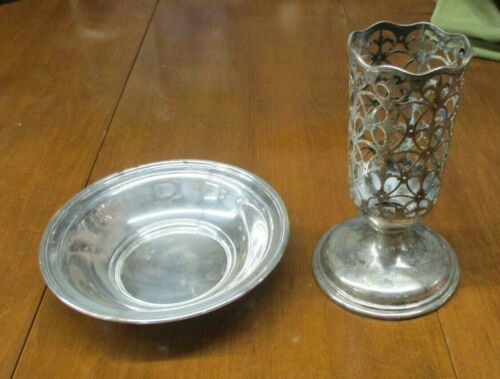 Lot of 2 Antique Sterling Silver Pieces- 18.9 Ounces Below Melt Price for Scrap