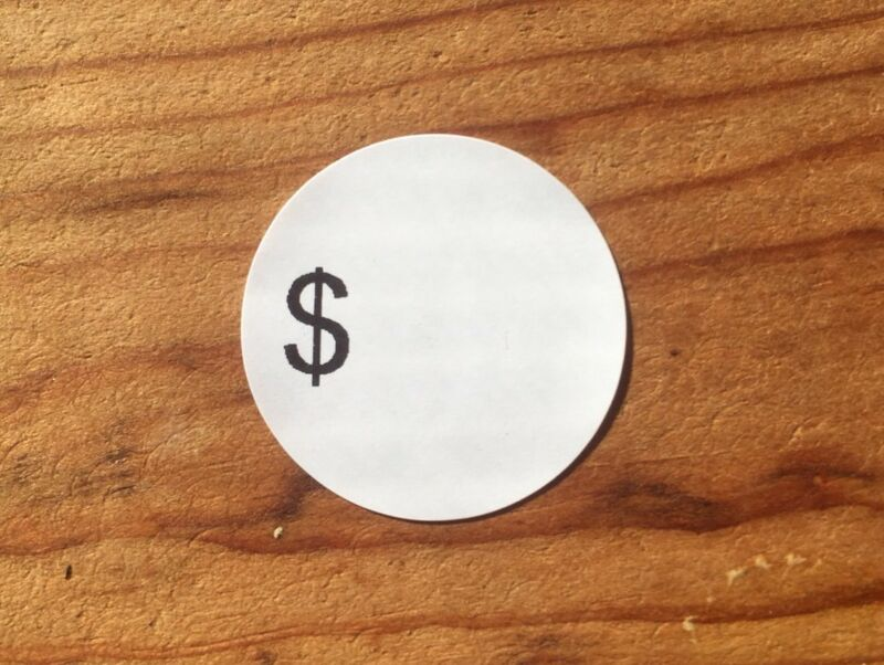 """200 Self-Adhesive Sale Price Round Retail Labels 1"""" Sticker Tags"""