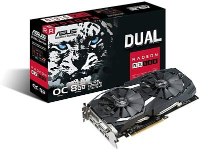 ASUS Radeon RX 580 8GB OC Edition GDDR5 DP HDMI DVI VR Ready AMD Graphics Card