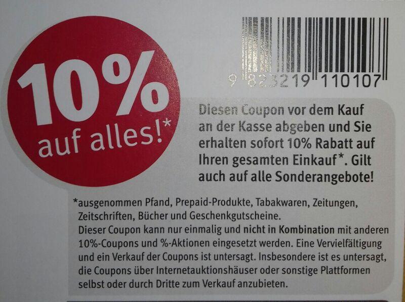 12 Stück 10 % Rossmann Coupons Gutscheine ggf. für DM, Müller 31.12.2019 Dez