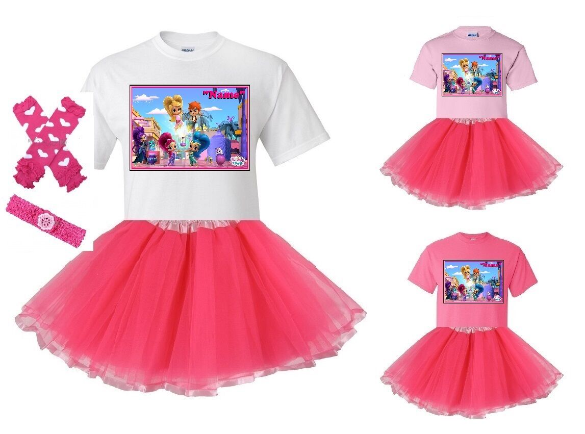 """""""Shimmer and Shine Bottle"""" Personalized T-Shirt and Pink"""
