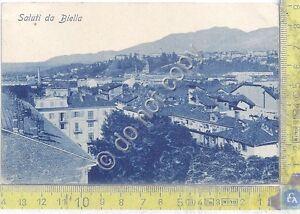 Cartolina-Postcard-Gruss-aus-saluti-da-Biella-Panorama-1908