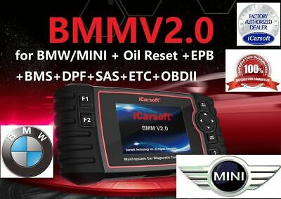 iCarsoft BMM V2.0 Diagnostic Scanner Tool for BMW Mini SRS ABS RESET (OPEN BOX)