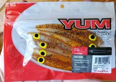 "YSR4257 Chicken On A Chain Yum  SWURM Soft Jerkbait 4.75/""  7 per Bag"