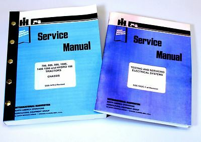 International 1586 Hydro 186 Tractor Service Repair Shop Manual Ih Technical