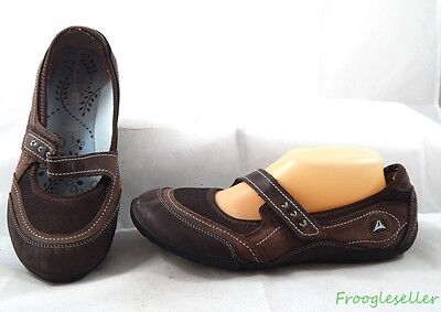 Clarks womens mary jane loafers flats shoes US 9 M UK 7 D brown leather & fabric